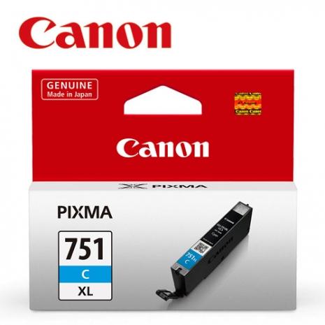 CANON CLI-751XL-C 原廠藍色XL墨水匣