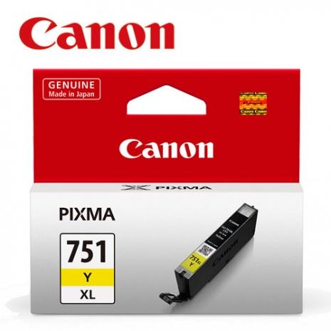 CANON CLI-751XL-Y 原廠黃色XL墨水匣