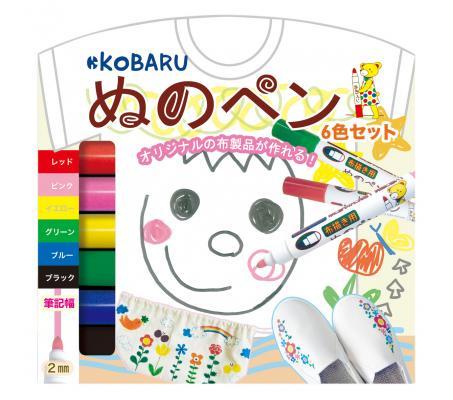 KoBARU可巴魯布料彩繪筆6色裝