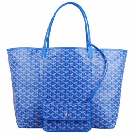 Goyard新款肩背購物包(藍/大)