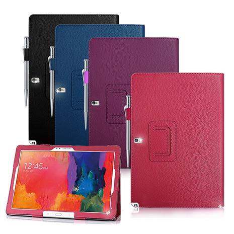 Samsung GALAXY Note PRO 12.2 / P905 / P900 支架磁扣荔枝紋 書本式保護套