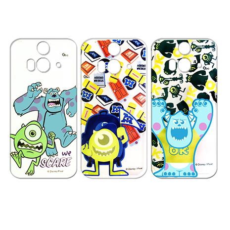 迪士尼授權正版 Disney HTC Butterfly 2 B810x 蝴蝶2 透明彩繪軟式保護殼 手機殼(怪獸大學款)