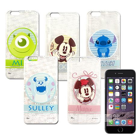 迪士尼授權正版 I PHONE 6 PLUS 5.5吋 徽章系列透明彩繪軟式保護殼 手機殼