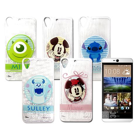 迪士尼授權正版 HTC Desire 626 D626X 徽章系列透明彩繪軟式保護殼 手機殼