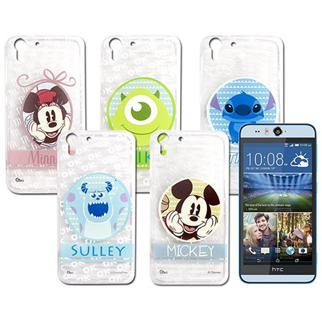 迪士尼授權正版 HTC Desire EYE / M910X 徽章系列透明彩繪軟式保護殼 手機殼