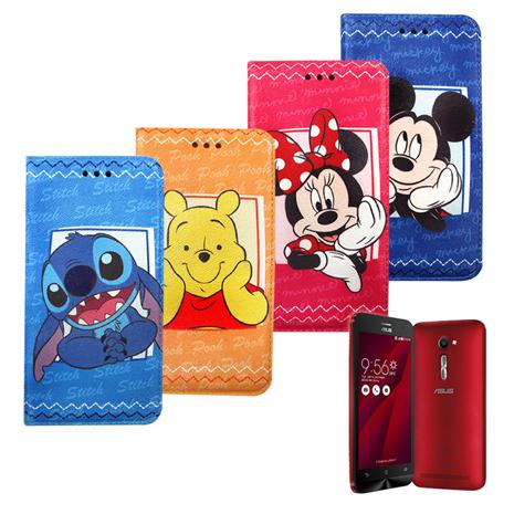 迪士尼Disney 授權正版 華碩 ASUS ZenFone 2 ZE500CL 5.0吋 手帳式磁力支架皮套