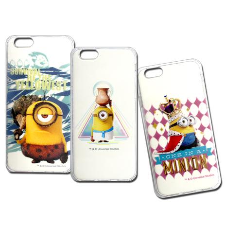 小小兵 正版授權 iPhone 6s/6 4.7吋 i6 透明軟式保護套 手機殼(情境篇)
