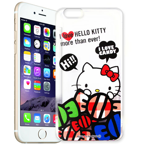 Hello Kitty iPhone 6s+/6 plus 5.5吋 i6+ 透明軟式手機殼(糖果HI)