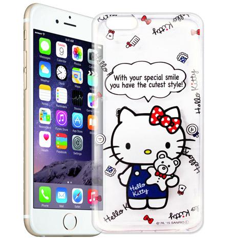 Hello Kitty iPhone 6s/6 4.7吋 i6 透明軟式手機殼(Kitty公仔)
