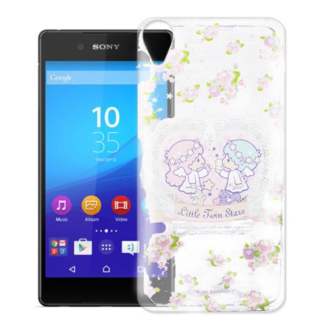 三麗鷗授權正版 Hello Kitty 凱蒂貓  Sony Xperia Z5 Premium透明軟式手機殼(天使雙子星)
