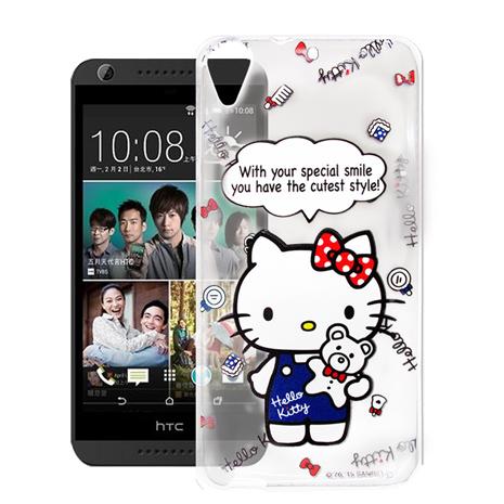 Hello Kitty HTC Desire 626 D626X 透明軟式手機殼(Kitty公仔)