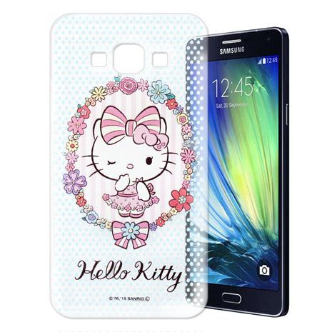 Hello Kitty 三星 SAMSUNG Galaxy A7 透明軟式手機殼(花邊Kitty)