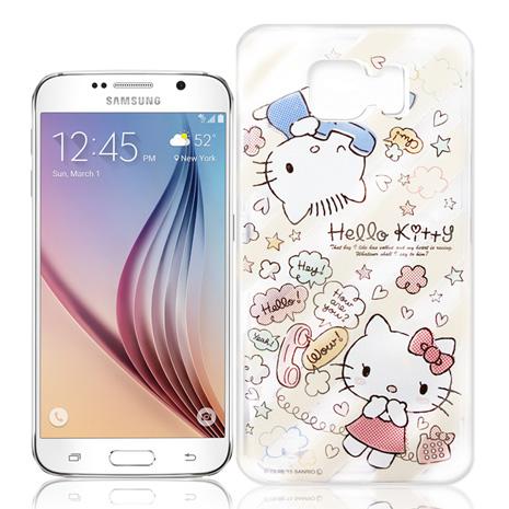 Hello Kitty 三星 Samsung Galaxy S6 G9200 透明軟式手機殼(熱線Kitty)