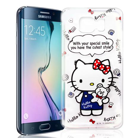 Hello Kitty Samsung Galaxy S6 Edge 透明軟式手機殼(Kitty公仔)