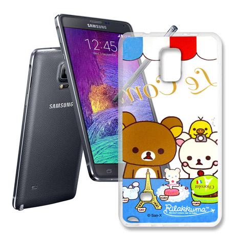 三星 SAMSUNG Galaxy Note4 透明彩繪手機殼(巴黎鐵塔)