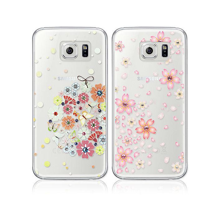 施華洛世奇彩鑽 SAMSUNG Galaxy S6 G9200 花語水晶軟式保護殼 背蓋