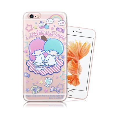 三麗鷗授權正版 Little Twin Stars KiKiLaLa iPhone 6/6s Plus 5.5吋 透明軟式手機殼(休閒)