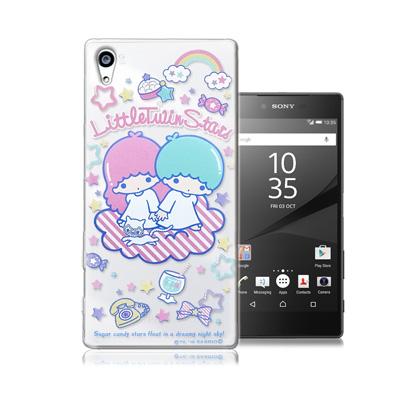 三麗鷗授權正版 雙子星仙子KiKiLaLa Sony Xperia Z5 Premium 透明軟式手機殼(休閒)