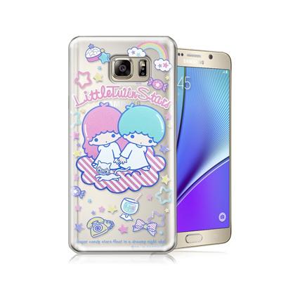 三麗鷗授權正版 Little Twin Stars KiKiLaLa Samsung Galaxy NOTE5 透明軟式手機殼(休閒)
