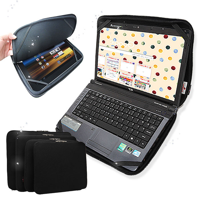 都市極簡風 筆電平板2用雙開拉鍊防震內袋 收納包 13吋
