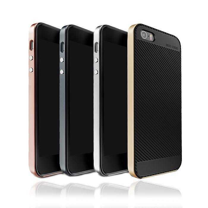 VXTRA  iPhone SE / 5S / 5  防震電鍍雙料軟性手機殼