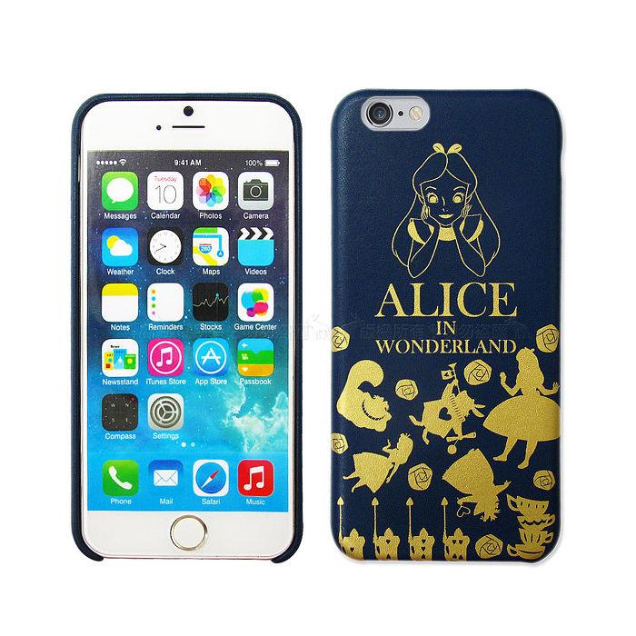 迪士尼正版授權 魔鏡夢遊仙境 iPhone 6/6s plus 5.5吋 精緻燙金皮革手機殼(愛麗絲)