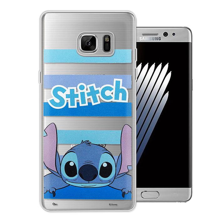 迪士尼授權正版Samsung Galaxy Note5大頭招呼系列軟式手機殼(史迪奇)