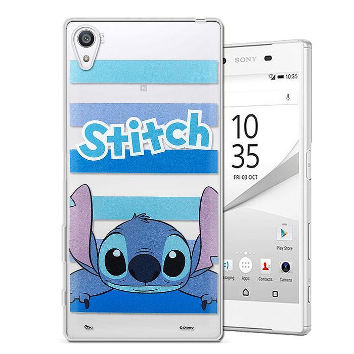 迪士尼授權正版 SONY Xperia Z5 Premium 5.5吋 大頭招呼系列軟式手機殼(史迪奇)