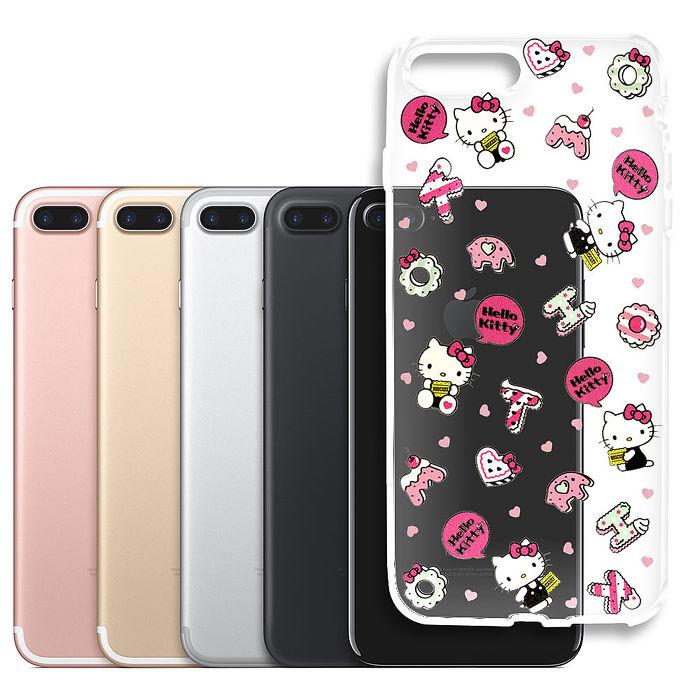 三麗鷗授權 Hello Kitty 凱蒂貓 iPhone 7 plus 5.5吋 浮雕彩繪透明手機殼(繽紛點心)