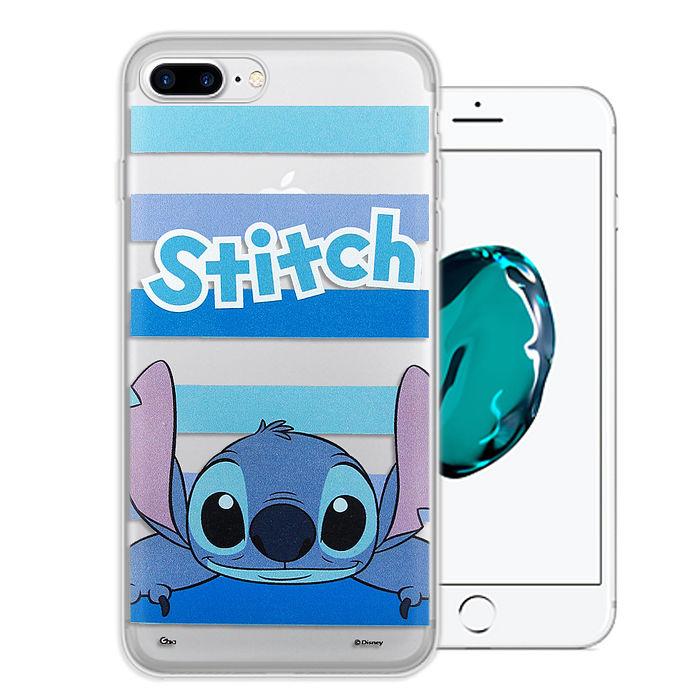 迪士尼授權正版 iPhone 7 Plus 5.5吋 大頭招呼系列軟式手機殼(史迪奇)