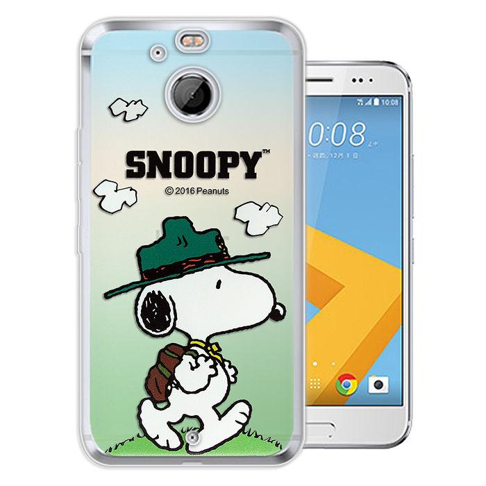 史努比/SNOOPY 正版授權 HTC 10 evo 5.5吋 漸層彩繪軟式手機殼(郊遊)