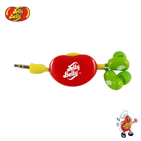 【JELLY BELLY 】雷根糖混色版捲線器耳機 (黃綠紅)