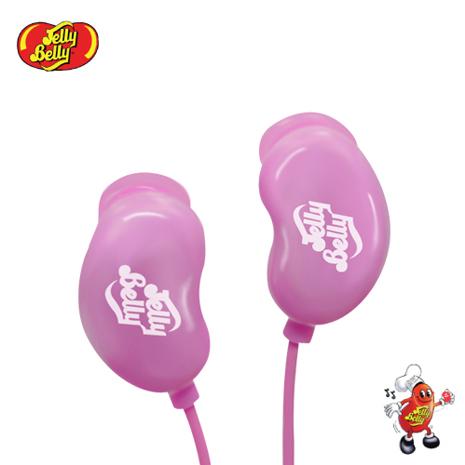 【JELLY BELLY 】雷根糖造型耳機 - Cotton Candy (粉紅)