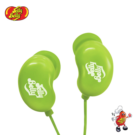 【JELLY BELLY 】雷根糖造型耳機 - KIWI (綠)