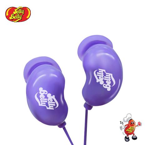 【JELLY BELLY 】雷根糖造型耳機 - Island Punch (紫)