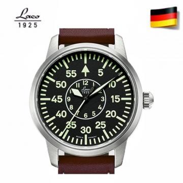 德國品牌 Laco 朗坤 夜光自動機械表 女錶 手錶 軍錶 台灣總代理公司貨 861799