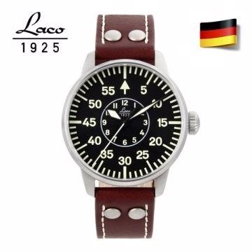 德國工藝 Laco 朗坤夜光飛行機械錶-黑/42MM 861690