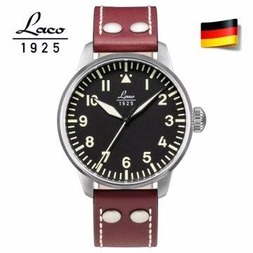 德國工藝 Laco 朗坤飛行員系列德國手錶男士自動機械表 861688N