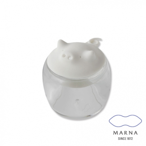 【MARNA】小豬造型調味罐50ml(白)