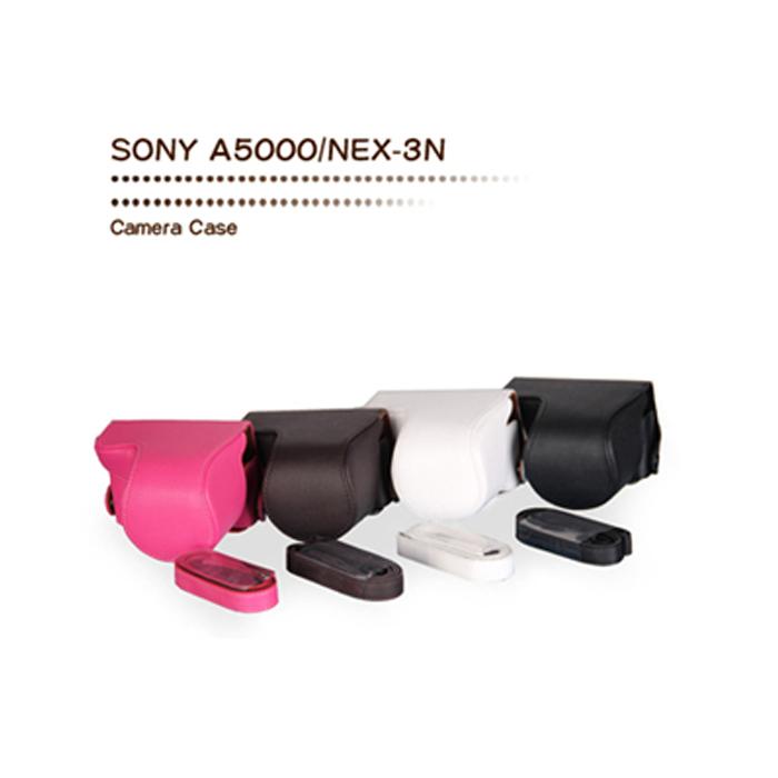 WISTON 手工皮套 FOR SONY A5000/nex-3n自動變焦鏡 (兩件式)-黑