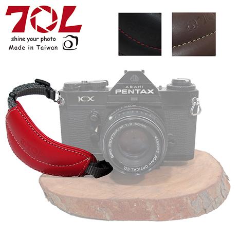 70L DHS01 真皮單眼相機手腕帶(附手快拆板)-微單可用
