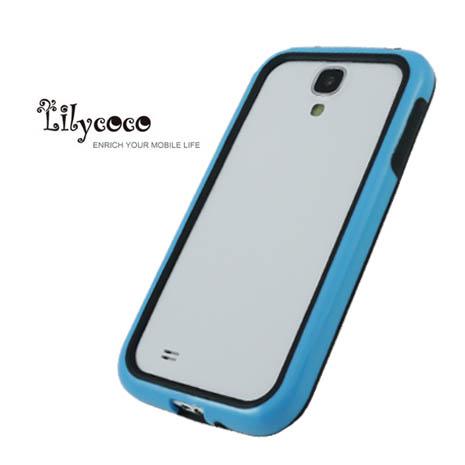 Lilycoco Samsung Galaxy S4 i9500 Bumper 時尚雙色邊框-藍黑