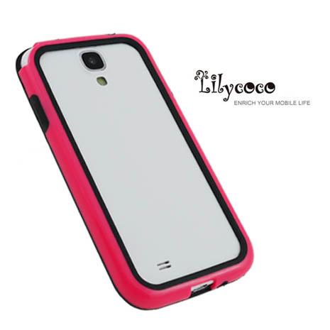 Lilycoco Samsung Galaxy S4 i9500 Bumper 時尚雙色邊框-桃黑
