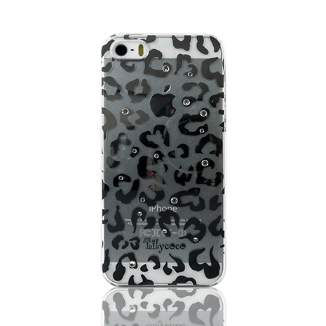Lilycoco iPhone 5/5S 璀璨水晶保護殼-豹紋
