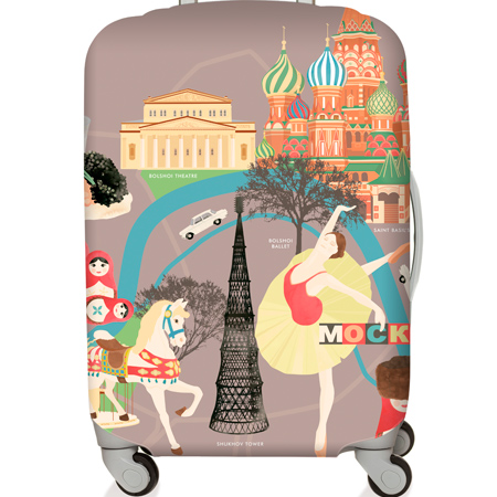【LOQI 行李箱套】莫斯科LMURMO