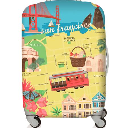 【LOQI 行李箱套】舊金山