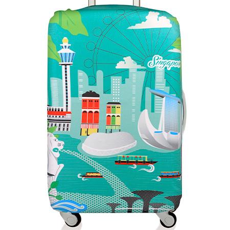 LOQI 行李箱套│新加坡【M 號】