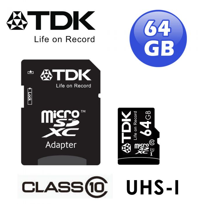 TDK micro SDXC CLASS10 UHS-1記憶卡64GB(附轉卡)