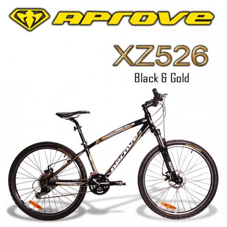 APROVE XZ526 超值27S碟煞登山車(黑/金)