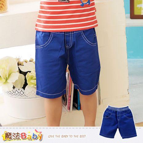 魔法BABY~男童短褲 牛仔藍短褲 男童裝~K41187